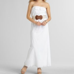 Trixxi White Strapless Maxi Dress